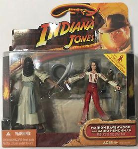 HASBRO Indiana Jones Raiders Of The Lost Ark Marion Ravenwood & Cairo Henchman