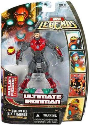 Marvel Legends Annihilus Series Ultimate Iron Man Unmasked Variant