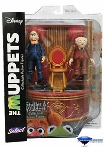 Muppets Statler Waldorf Action Figure with Chairs Balcony Diamond Select Toys