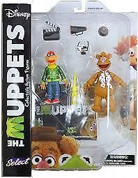 """MUPPETS SELECT SERIES 1 """"FOZZIE / SCOOTER"""" ACTION FIGURES"""