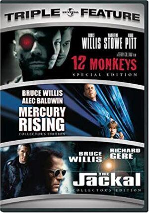 DVD 12 Monkeys; Mercury Rising; The jackal à vendre
