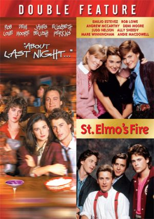 about last night et st elmo's fire dvd films à vendre